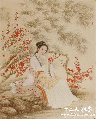 李香君画照