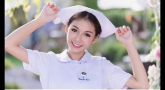 95后护士貌美走红 泰国95后小护士网络走红图组